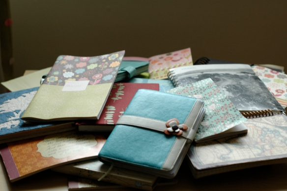 My journals looking more like my mind looks. Jumbled and chaotic but interlocking and beautiful too.